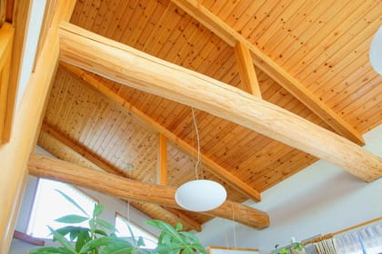 勾配天井とは?メリット、デメリットや照明・シーリングファン設置時のポイント