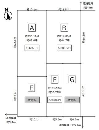 ヘーベルハウス/名古屋市北区神明町②(5区画分け)